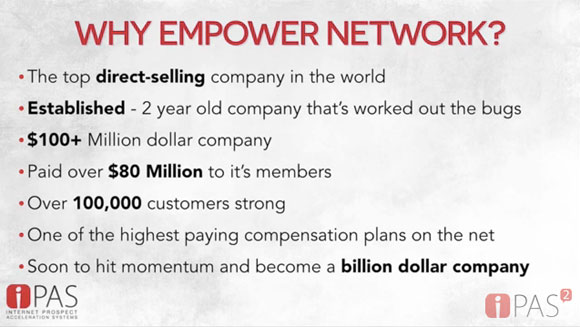 Why iPAS2 chose Empower Network