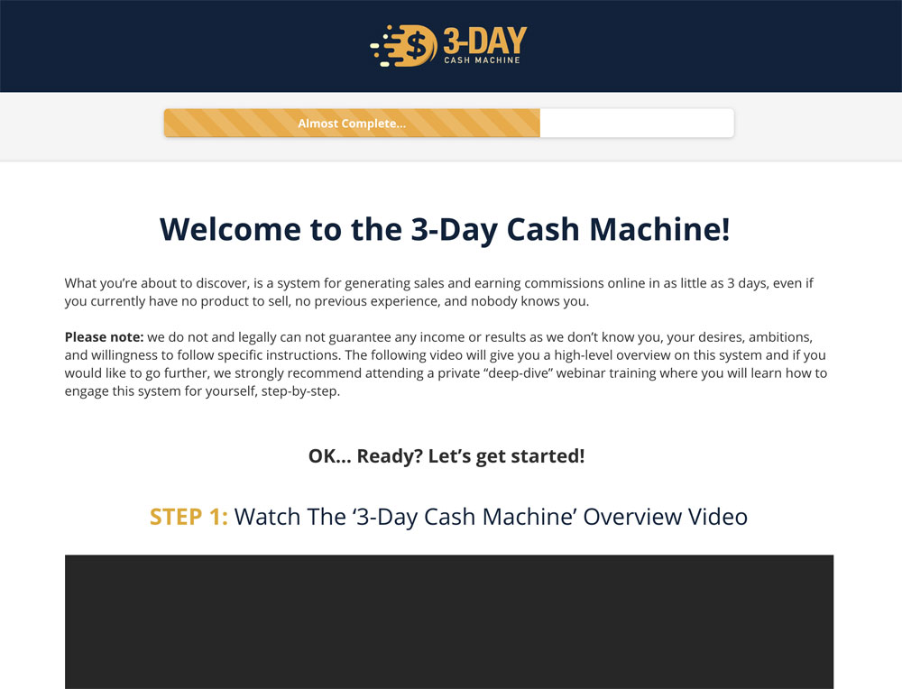 3 Day Cash Machine Review