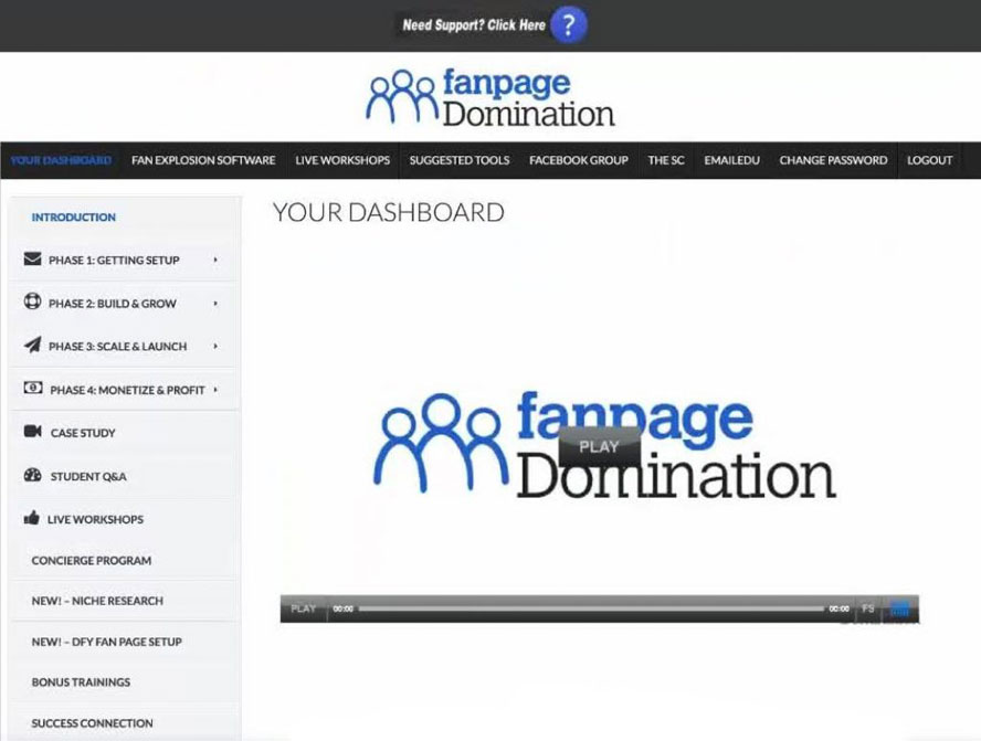 Anthony Morrison Fanpage domination review backoffice